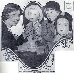 Nixon (second from right) makes his newspaper debut in 1916, contributing five cents to a fund for war orphans. Donald is to the left of his brother.