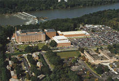 NGA's old headquarters in Brookmont, Maryland prior to 2012. It had been the headquarters of NGA and its predecessor agencies since 1945. After the move to its current headquarters, this facility was renovated and became Intelligence Community Campus-Bethesda.