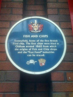 Oldham - first chip shop in UK