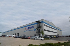 Optare bus factory in North Yorkshire, off the B1222