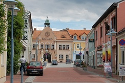 Town hall of Markt Piesting, Lower Austria, population ca. 3,000