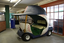 The bullpen car used by the Red Sox