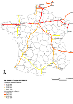 The Chappe Network in France