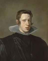 "Painting of a youthful Philip IV in 1623 by Diego Velázquez, displaying the prominent ""Habsburg lip"""