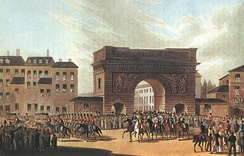The Russian army enters Paris in 1814