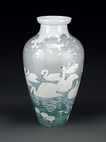 Swan vase, for the Paris Exposition Universelle (1900)