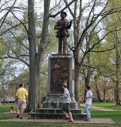 Sculpture of Confederate soldier Silent Sam, University of North Carolina at Chapel Hill, by John Wilson