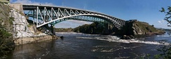 Reversing Falls is where the Saint John River and Bay of Fundy meet