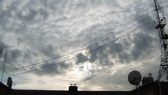 A 20-meter-long T2FD antenna, covering the 5-30 MHz band.
