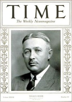 Torkild Rieber on the cover page of Time Magazine.