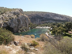 View of the Lake Vouliagmeni