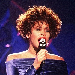 Уитни Хьюстон во время выступления на Welcome Home Heroes with Whitney Houston[en] в 1991 году