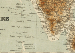 1920 British map of the Maldives
