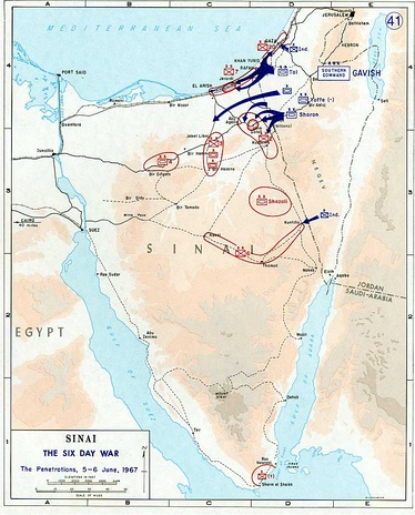 Conquest of Sinai. June 5–6, 1967