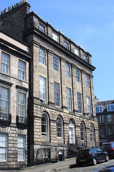 De Quincey's large house at 1 Forres Street, Edinburgh.