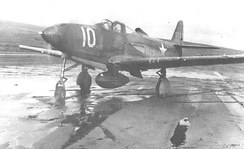 P-39E Airacobra used by the 42d Fighter Squadron, deployed to Davis Army Airfield, Adak in October 1942