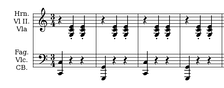 "A waltz melody, which is usually in triple meter, is often supported by an ""oom-pah-pah""-style accompaniment, which consists of a bass note in beat one followed by a chord that is played twice in beats two and three."
