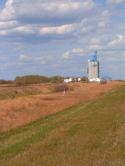 Concrete grain elevator in Alberta