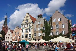 Olsztyn is the capital of the Voivodeship and the largest city of Warmia