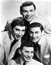 Photo of the Ames Brothers, 1955. Ed Ames is seen at top.