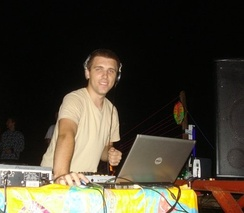 Arronax performing at The Gathering, a psychedelic trance festival, in 2009
