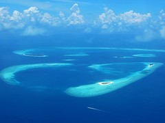Sky view of a part of Baa atoll.