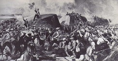 The Battle of Sobraon in 1846. Contemporary picture