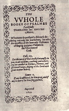 The Bay Psalm Book was used by the Pilgrims.