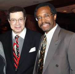 Carson with fellow surgeon Levi Watkins in 2000