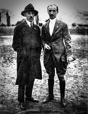 With balloonist Eduardo Bradley of Argentina, 1916