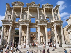 Celsus Library was built in 135 AD and could house around 12,000 scrolls.