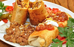 Chimichangas with pintos