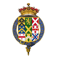 Quartered coat of arms of Robert Walpole, 1st Earl of Orford, KG[77]