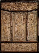 The ivory panels from the back cover of Codex Aureus of Lorsch