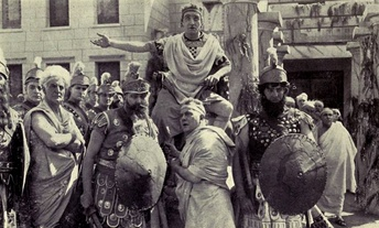 Scene from 1914 film adaptation of  Damon and Pythias