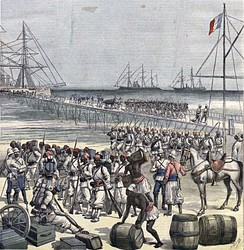 French colonial troops, led by Colonel Alfred-Amédée Dodds, a Senegalese mulatto, conquered and annexed Dahomey in 1894