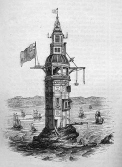 Winstanley's lighthouse, as modified in 1699