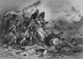 The  Death of Pakenham at the Battle of New Orleans  by F. O. C. Darley shows the death of Sir Edward Pakenham on January 8, 1815.