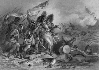 Death of Pakenham at the Battle of New Orleans