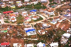 The aftermath of Hurricane Marilyn on the island of St. Thomas, 1995