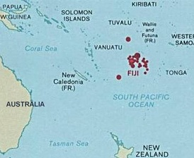 Fiji's location in Oceania