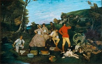 Gustave Courbet, The Hunt Breakfast, 1858
