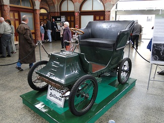 A Sutton Voiturette Pedal Car, built in Ballarat, Victoria, Australia, in 1900 and on display in 2011 at the Ballarat Heritage Festival