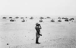 Indian transport raiders search for enemy targets during the Western Desert Campaign of World War II.