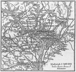 Mapa alemán de Washington D. C. (1888)
