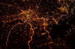 Liège at night, photography taken from the ISS on December 2012[40]