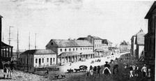Lower George Street, Sydney in about 1828