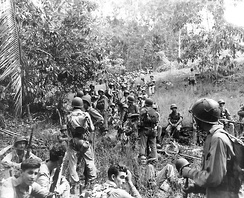 U.S. Marines during the Guadalcanal Campaign in November 1942