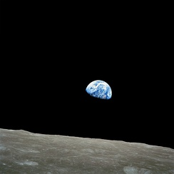 Earthrise, an iconic image from the 1968 Apollo 8 mission