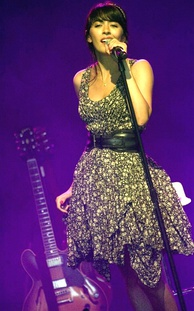 Nolwenn Leroy performing at the 2010 Francofolies in Spa, Belgium.